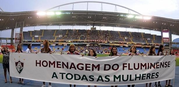 Diretoria do Fluminense presta homenagem às mulheres antes do Fla-Flu no Engenhão