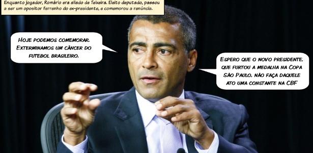 Romário, ex-jogador e deputado federal, pode comentar a Olimpíada de Londres