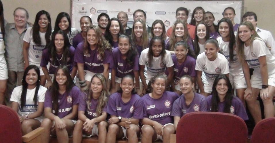 Centro Olímpico de Treinamento e Pesquisa (COTP) apresentou nesta terça-feira os reforços para sua equipe profissional de futebol feminino