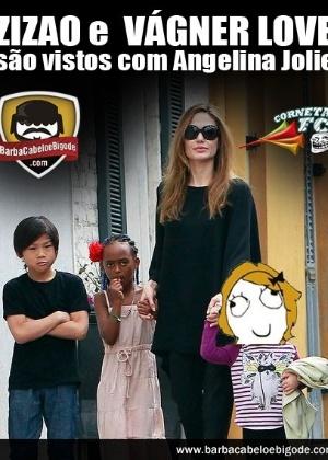 Corneta FC: Zizao e Vágner Love são vistos com Angelina Jolie