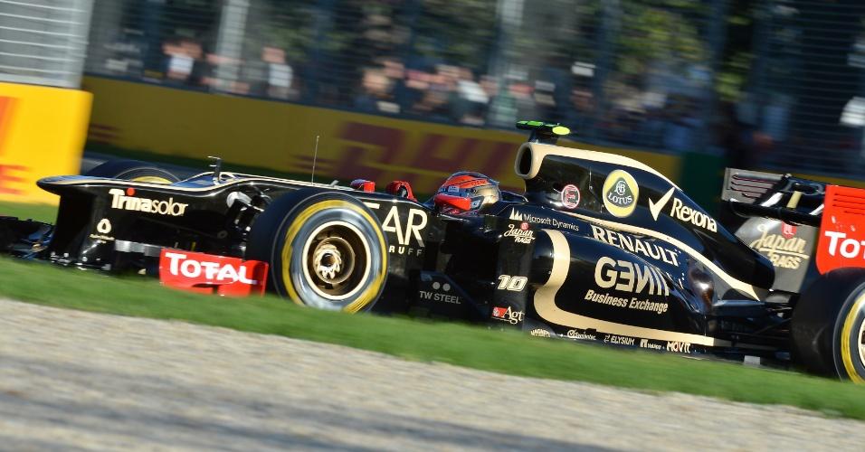 Romain Grosjean foi um dos destaques do treino de classificação no circuito de Albert Park