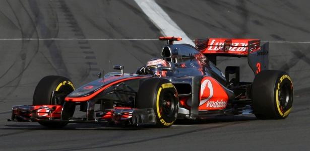 Button assumiu a ponta do GP da Austrália logo após a largada e não foi incomodado - Mark Horsburgh/Reuters