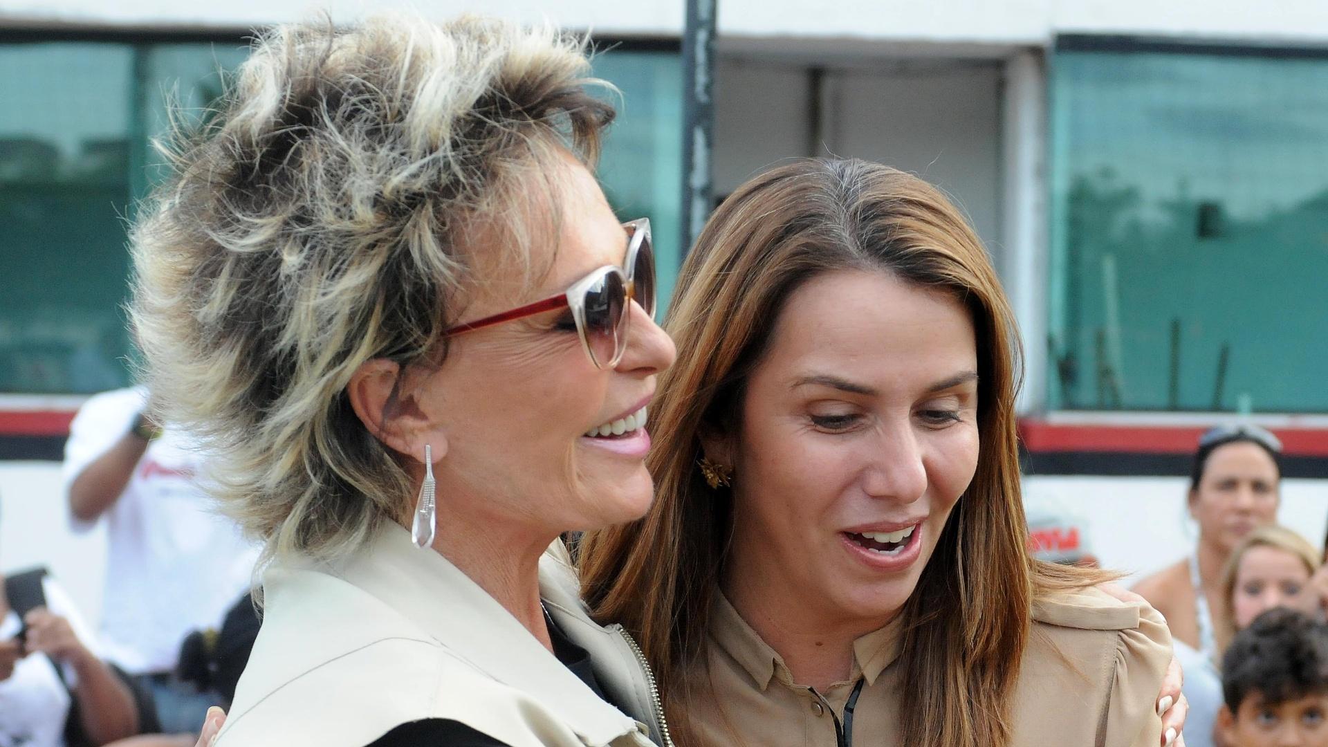 Ana Maria Braga e Patrícia Amorim trocaram elogios durante encontro na Gávea
