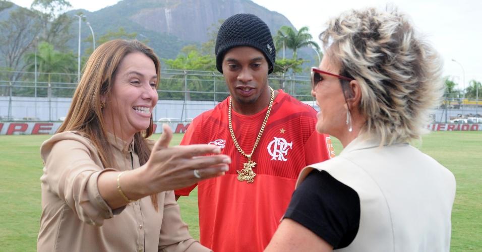 Patrícia Amorim também participou do encontro na Gávea