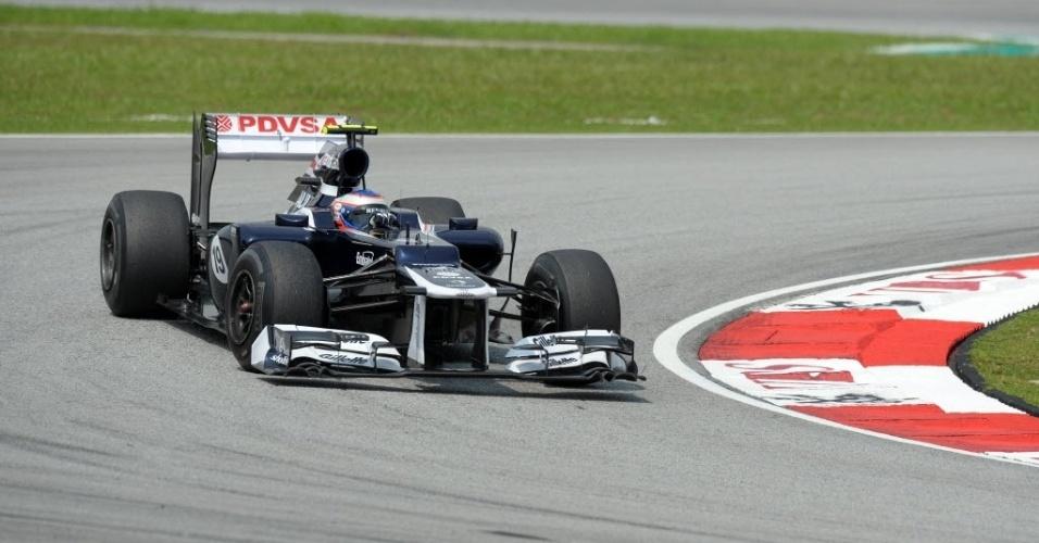 Bruno Senna participa da segunda sessão de treinos livres na Malásia; brasileiro terminou como o 19º melhor do dia