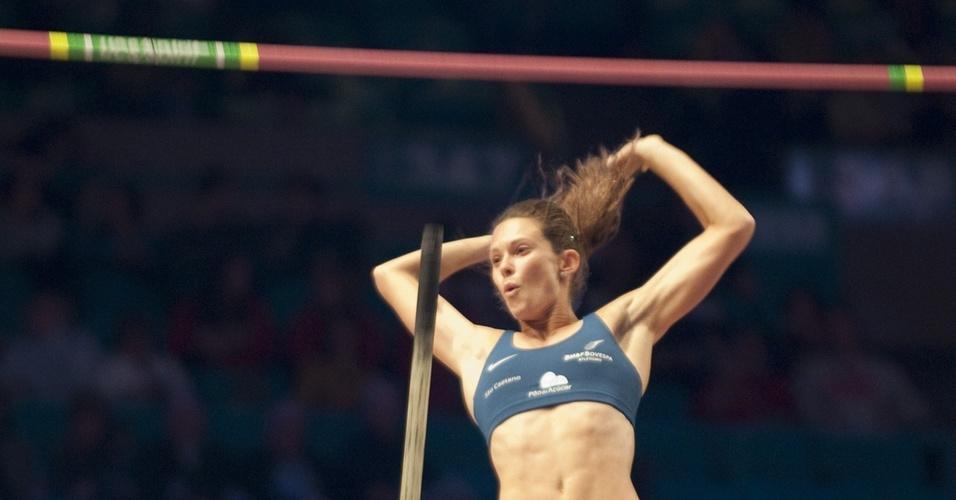 Fabiana Murer conquistou o ouro em Nova York, com a marca de 4,47 m