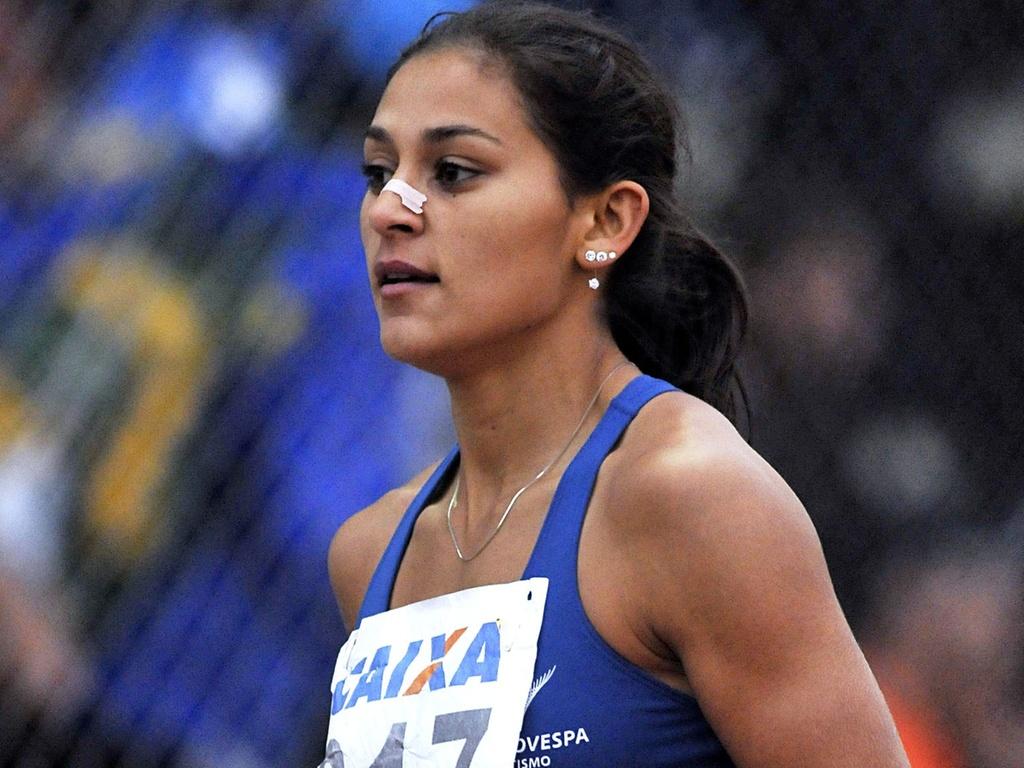 Ana Claudia Lemos disputa provas nos Estados Unidos após ter marcado 11s19 nos 100 m rasos (06/04/2011)