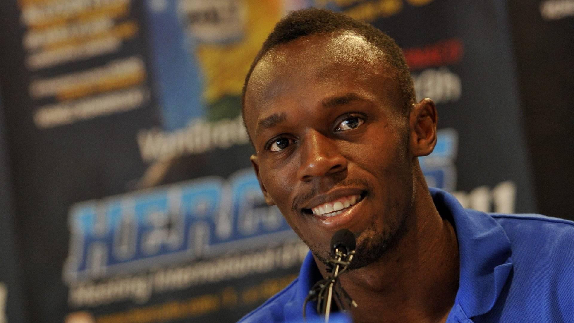 Usain Bolt concede entrevista antes da Liga de Diamante, em Mônaco (22/07/2011)