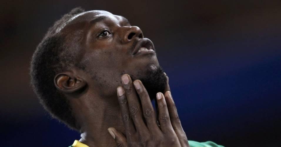 Usain Bolt apresentou novo estilo para o Mundial de Daegu: cavanhaque e cabelo mais longo (27/08/2011)