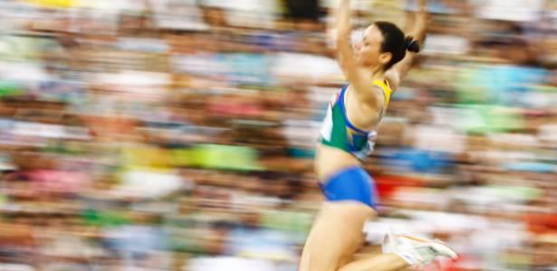 Maurren Maggi realiza salto na prova deste domingo em Daegu, na Coreia do Sul