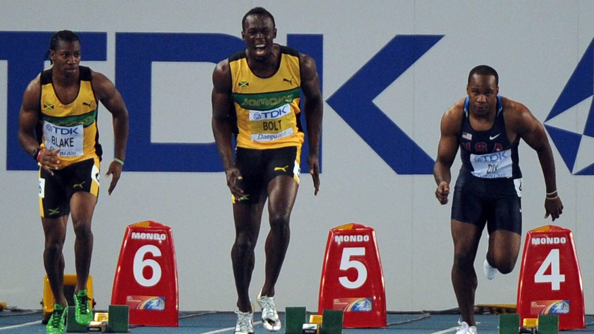 Recordista mundial, jamaicano Usain Bolt queima largada da final dos 100 m e perde chance do bi mundial (28/08/2011)