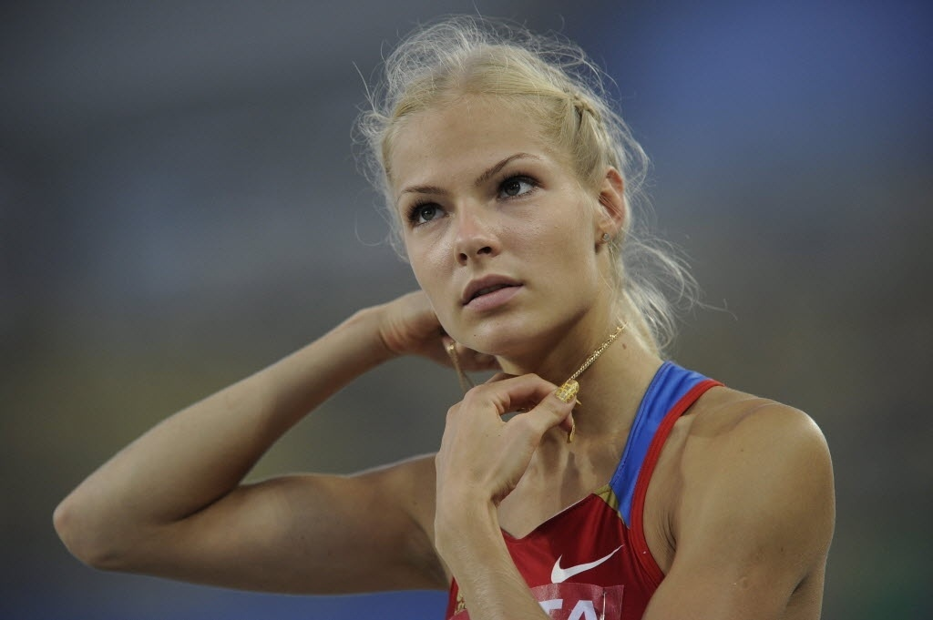 Russa Darya Klishina, atleta do salto em distância no Mundial de Atletismo 2011