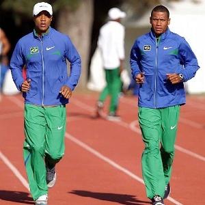 Lutmar Paes (esq.) e Kleberson Davide treinam para o Mundial de Daegu
