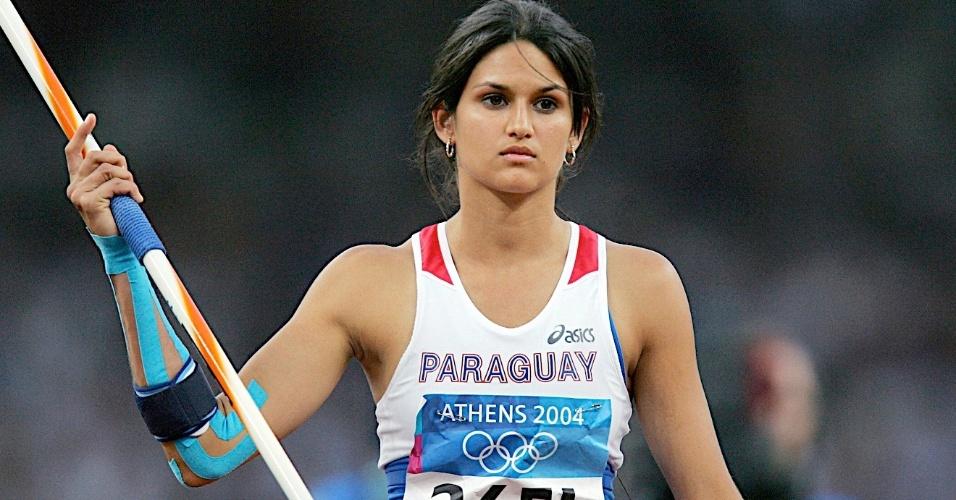 Leryn Franco, do Paraguai, compete nos Jogos de Atenas-2004