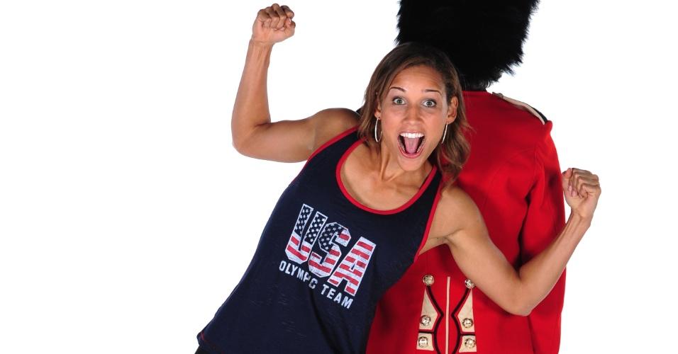Corredora LoLo Jones posa para catálogo do Comitê Olímpico dos Estados Unidos para os Jogos Olímpicos de Londres-2012