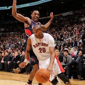 Leandrinho anotou 26 pontos na derrota do Toronto Raptors para o Atlanta Hawks