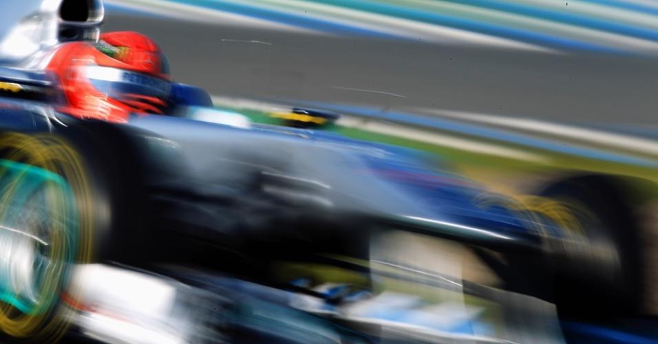 Michael Schumacher corre em Jerez de la Frontera