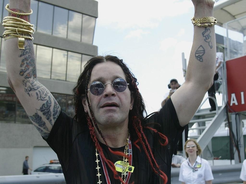 Ozzy Osbourne visita o autódromo em Montréal durante GP do Canadá de Fórmula 1 (15/06/2003)