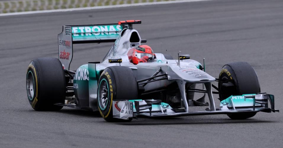 Michael Schumacher terminou em 8º lugar no GP da Alemanha