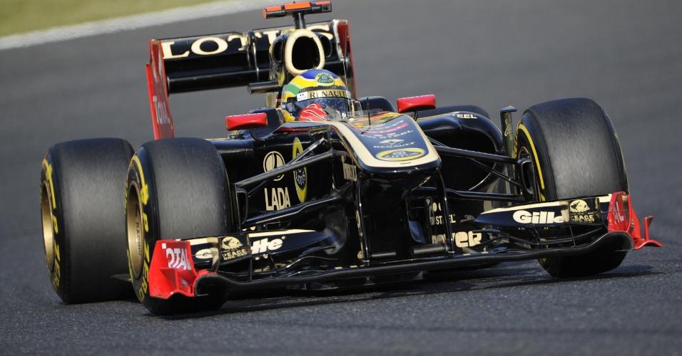 Bruno Senna pilota carro da Renault durante o treino de classificação para o GP do Japão em Suzuka (08/10/2011)