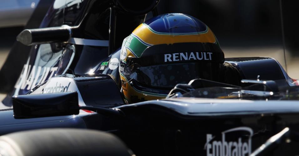 Bruno Senna acelera sua Williams em testes na pista de Jerez de la Frontera (09/02/2012)