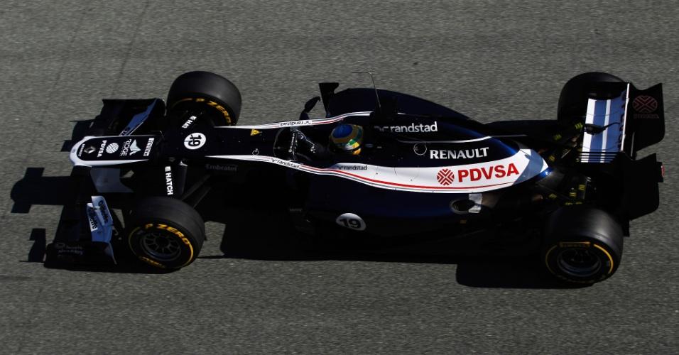 Bruno Senna testou o novo carro da Williams em Jerez de la Frontera (09/02/2012)