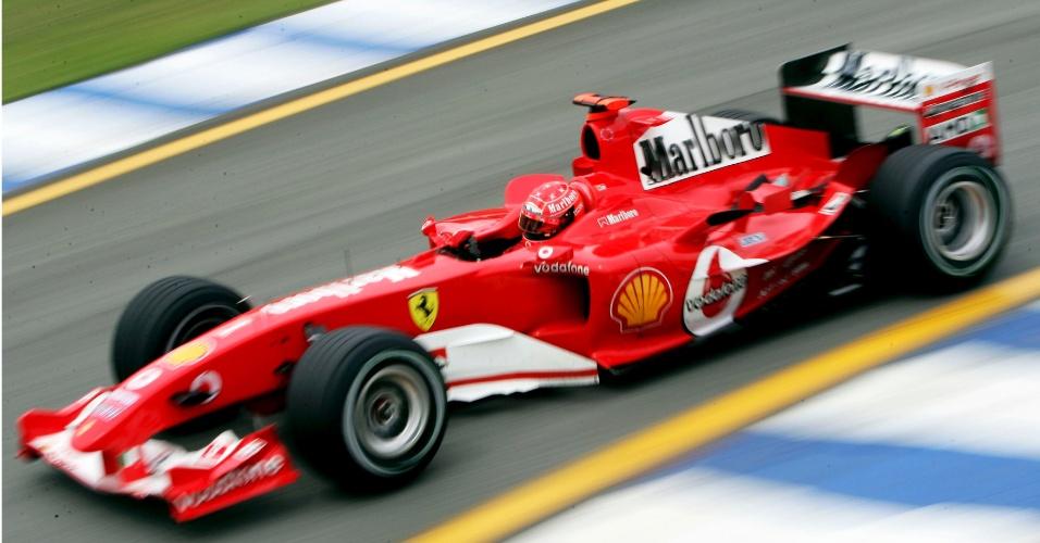 A Ferrari de Michael Schumacher em 2004