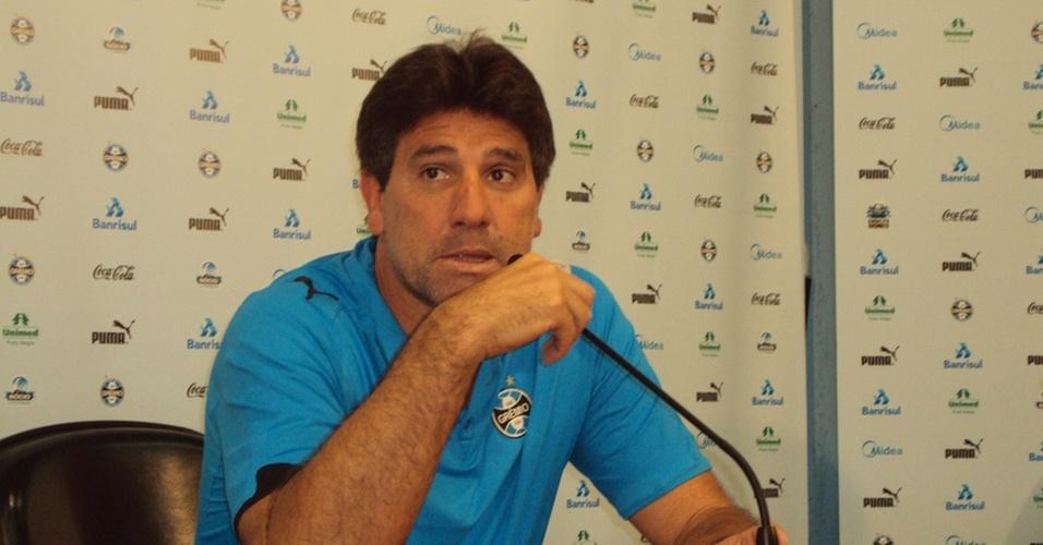 Renato Gaúcho, técnico do Grêmio, em entrevista coletiva