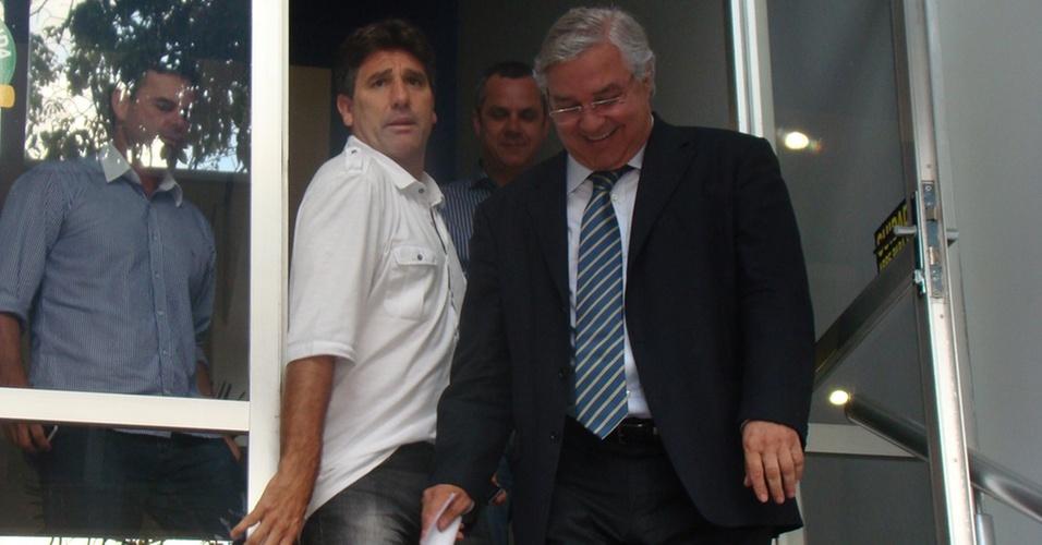 Saída da reunião ocorrida nesta terça-feira com Renato Gaúcho e dirigentes do Grêmio