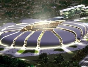 Maquete da Arena das Dunas, cujo edital atrasou e complicou o planejamento de Natal