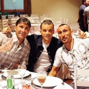 Abbondanzieri, D'Alessandro e Guiñazu em jantar no Inter