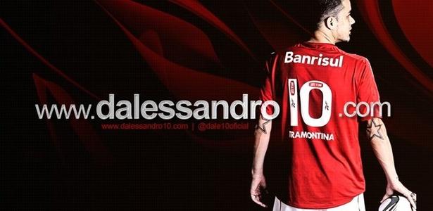 Imagem de lançamento do site do argentino D'Alessandro