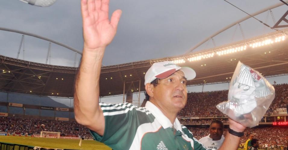 Muricy Ramalho comemora a conquista do título brasileiro pelo Fluminense