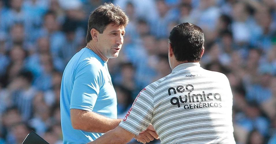 Renato Gaúcho cumprimenta Joel Santana