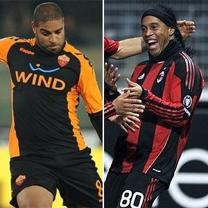 Montagem de Adriano e Ronaldinho