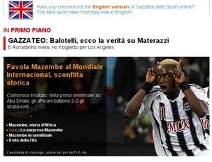 Jornais italianos destacam placar do jogo entre Inter e Mazembe e classsificam de zebra histórica resultado de 2 a 0 a favor dos africanos
