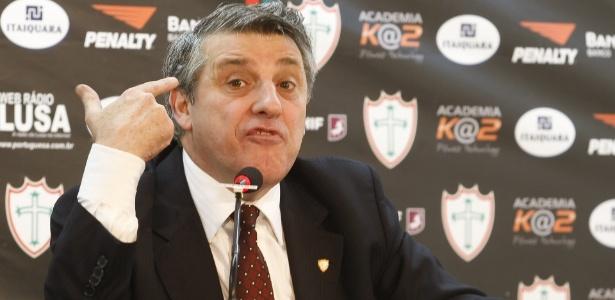 Manuel da Lupa, presidente da Portuguesa, divide defesa em duas frentes para evitar punição