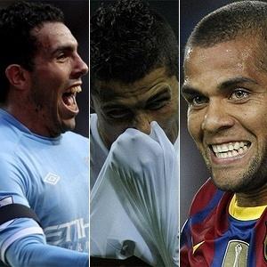 Carlos Tevez, Cristiano Ronaldo e Daniel Alves
