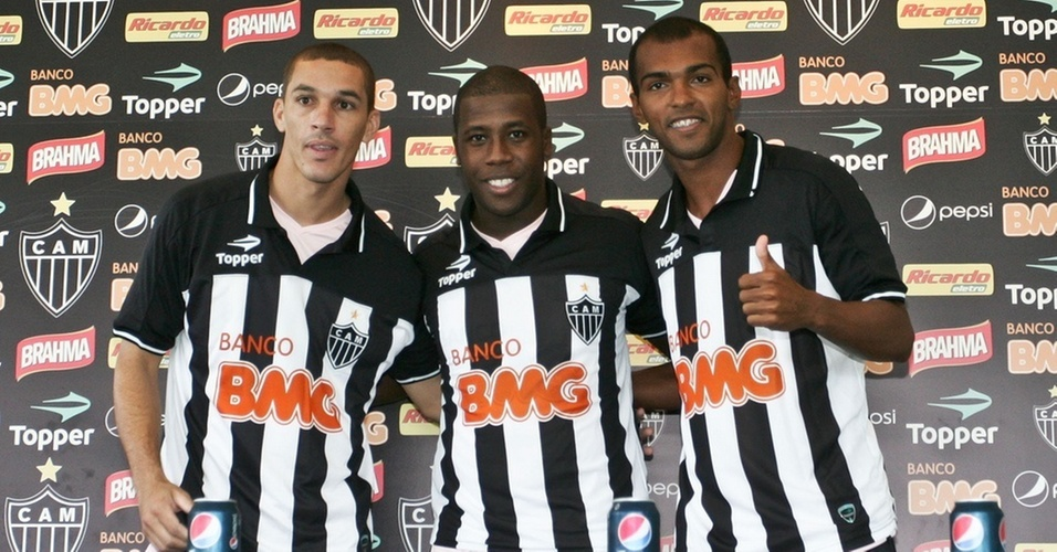 Wesley, Toró e Richarlyson são apresentados pelo Atlético-MG