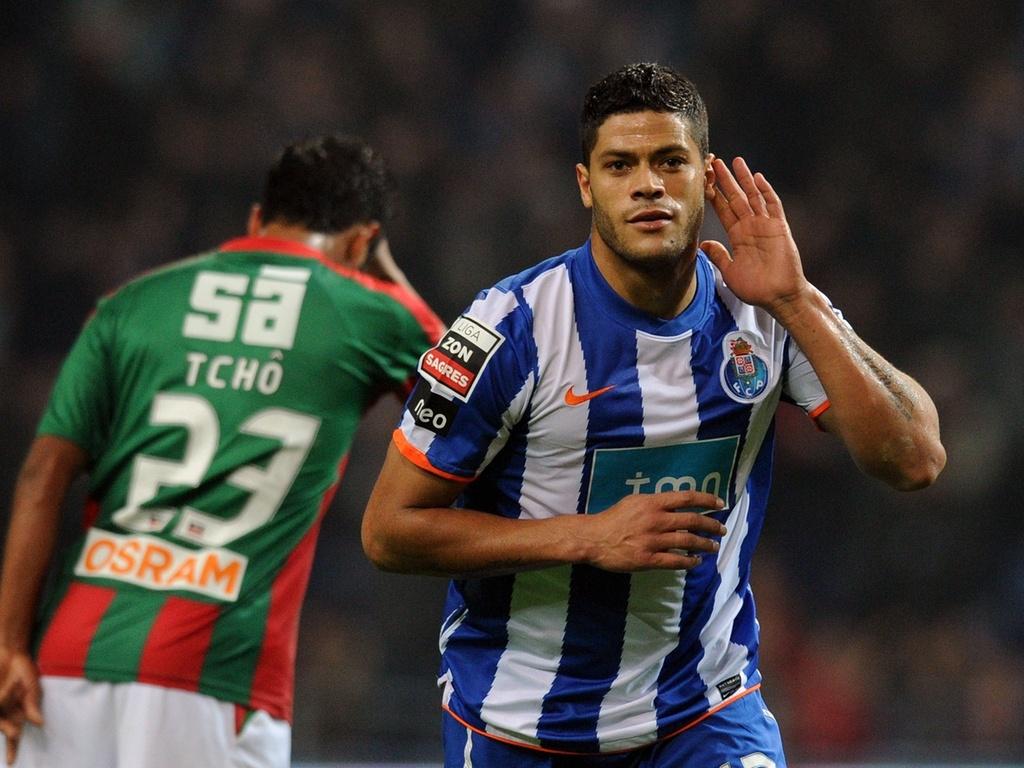 Hulk celebra gol do Porto na vitória sobre o Marítimo