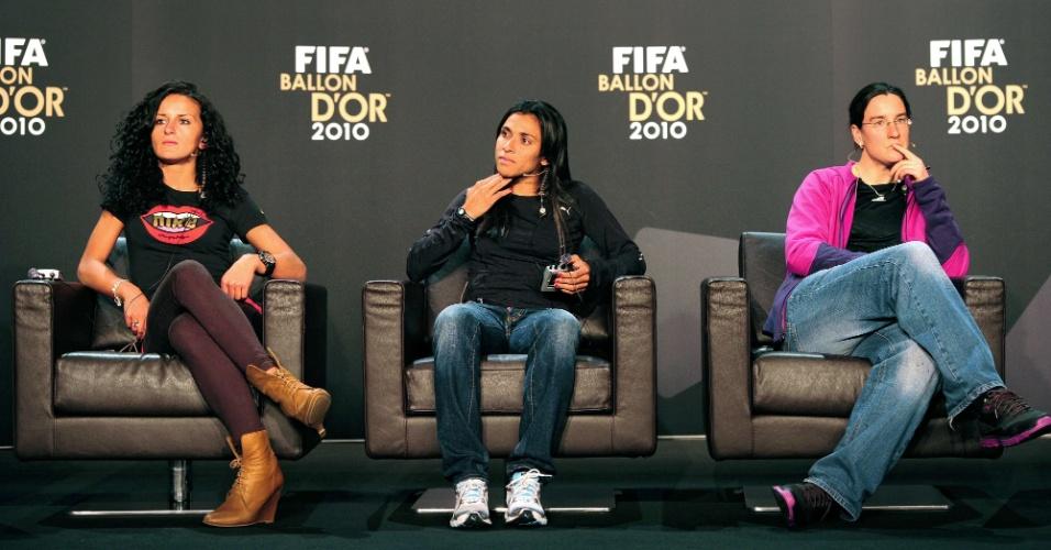 Concorrentes ao prêmio de melhor do mundo: Bajramaj, Marta e Prinz