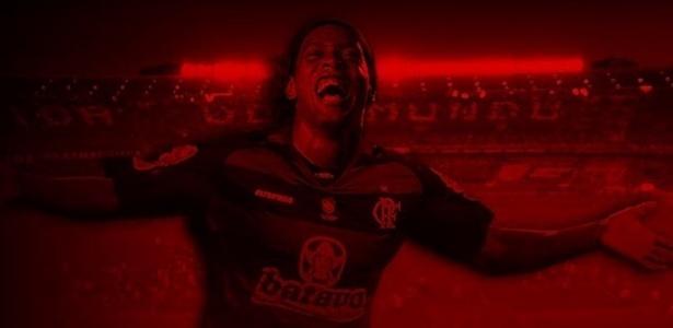 Imagem no site oficial do Flamengo anuncia o acerto com Ronaldinho Gaúcho