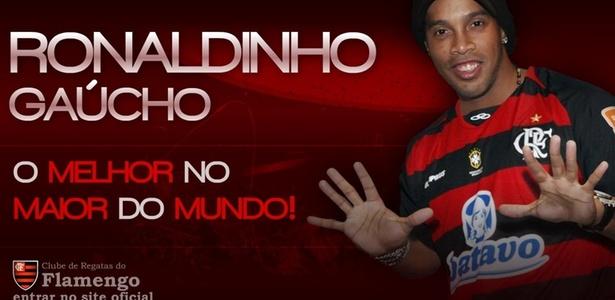 Reprodução/Site oficial do Flamengo