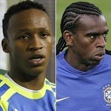Montagem de Tinga do Palmeiras e Tinga do Inter