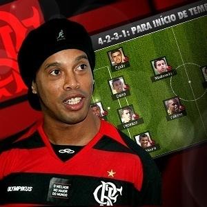 Como você escalaria o Flamengo com Ronaldinho Gaúcho?