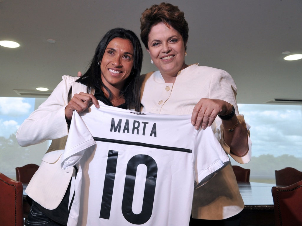 Dilma Rousseff recebe Marta no Palácio do Planalto