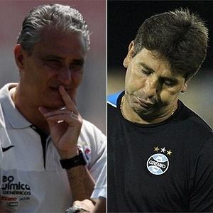 Tite e Renato Gaúcho em montagem