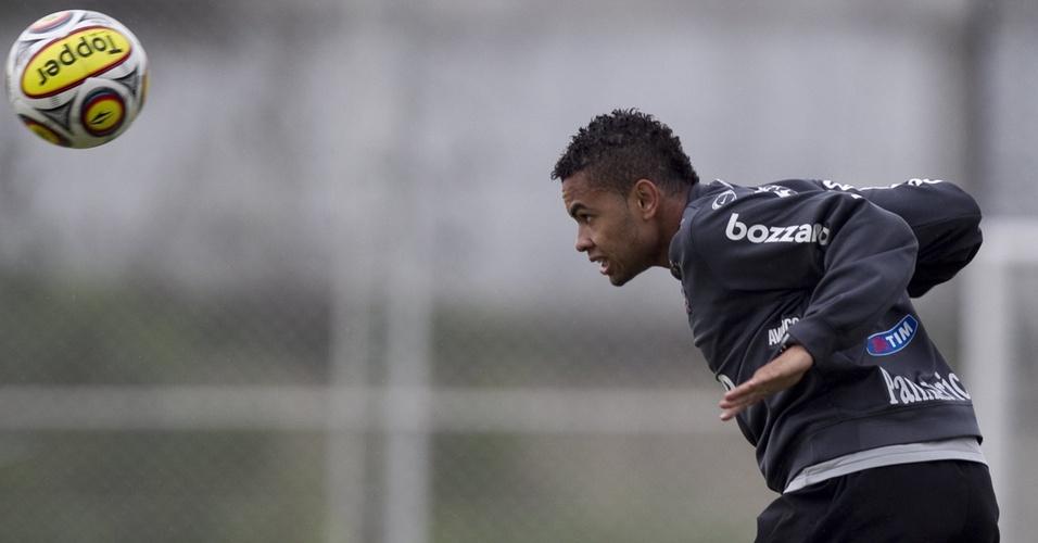 Dentinho treina com o Corinthians antes de enfrentar o Mogi Mirim pelo Paulistão