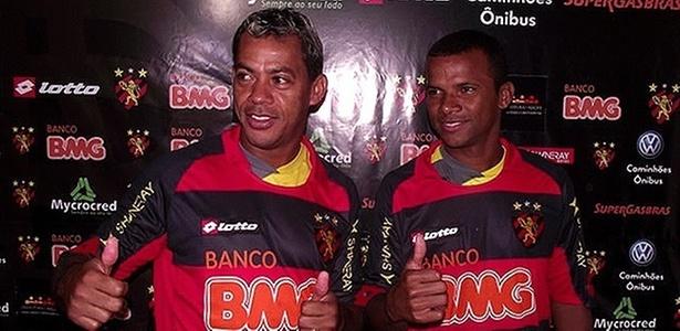 Marcelinho Paraíba (d) e Vítor são apresentados no Sport