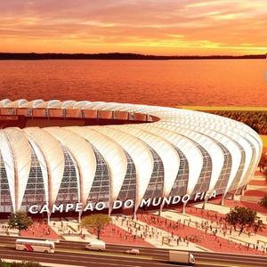 Gastos privados se limitam a investimentos feitos por clubes nos estádios, como o Beira-Rio (f)